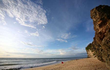 dreamland: Dreamland beach - Bali, Indonesia in february Stock Photo