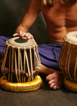 Man playing the nigerian drum in studio Stock Photo - 2812684