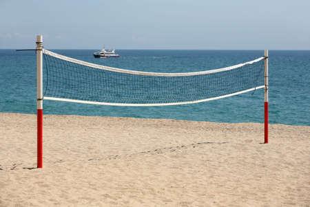 seacoast: Grid for beach volleyball on seacoast