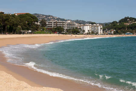 Beautiful beach in Lorett de mar (Costa Brava Catalonia Spain) photo