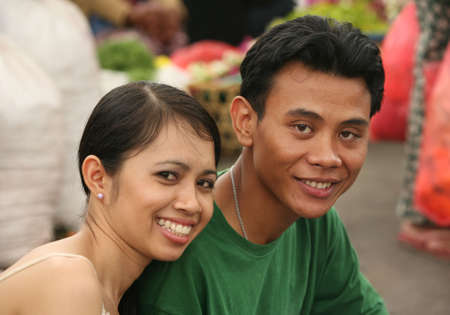 Indonesian the man and the woman. Bali. Indonesia photo