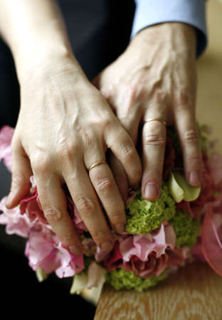 agrees: Hands of the adult of the man and the woman