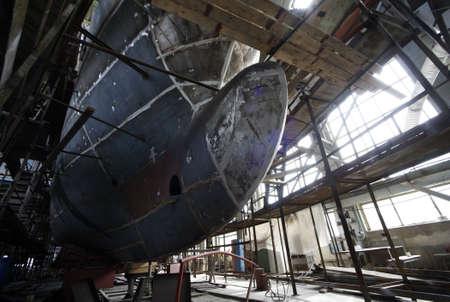 shipbuilder: Shipbuilding. Big a vessel in shop