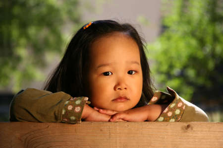 korean girl: The three-year sad Korean girl covered by the sun