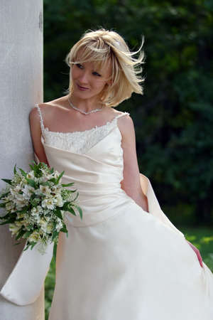 The beautiful bride with a bouquet  Stock Photo - 3654303