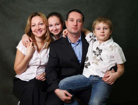 Portrait of parents and children in studio Stock Photo - 3685572