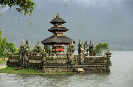 Bali water temple at bratan lake ulun danu bedungul photo
