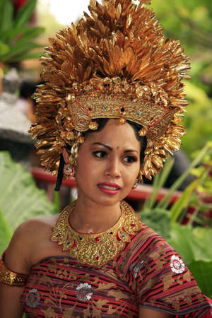 Attractive Bali bride in a traditional suit. Bali, Indonesia Stock Photo