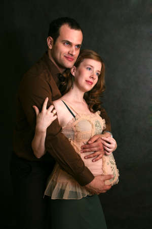 Portrait of a Family Waiting for their Baby Stock Photo - 4170823
