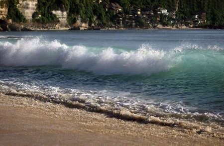dreamland: The big wave. Dreamland beach - Bali Stock Photo