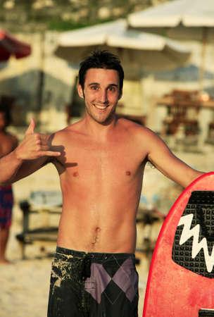 Portrait young men - the surfer Stock Photo - 4832335