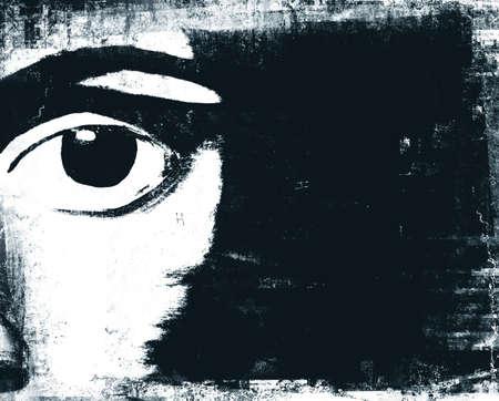 rebeldia: Ilustración resumen del hombre de los ojos