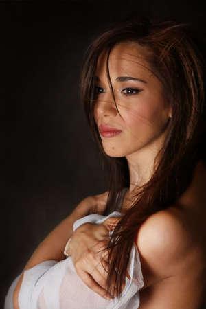 Portrait of the beautiful brunette in studio Stock Photo - 4939712