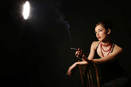 Portrait of the beautiful brunette in studio Stock Photo - 4939711