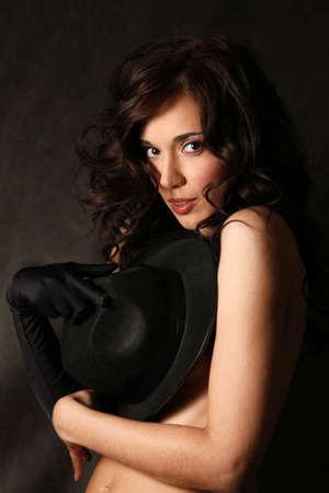 Portrait of the beautiful brunette in studio Stock Photo - 4939714