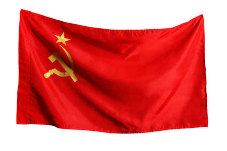 The Soviet flag isolated on a white background photo