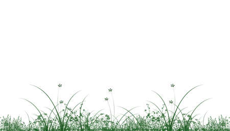 Green grass isolated on white - vector Stock Photo - 5282853