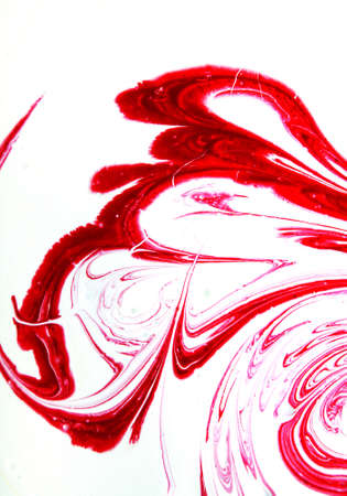 Red paint splashed over white background Stock Photo - 5368016