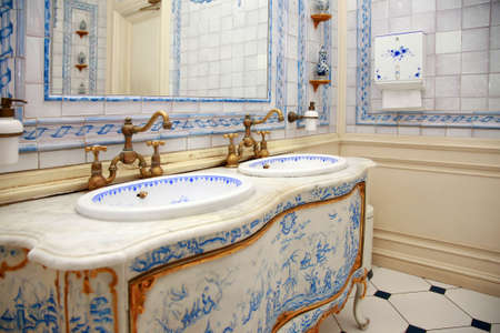 Vintage bath roomin the Dutch style photo