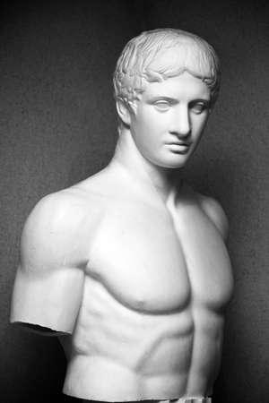 michelangelo: Marble sculpture of the man.