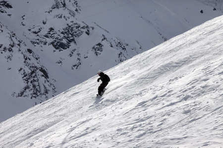 serf: Neige fra�che en poudre de snowboarder circonscription