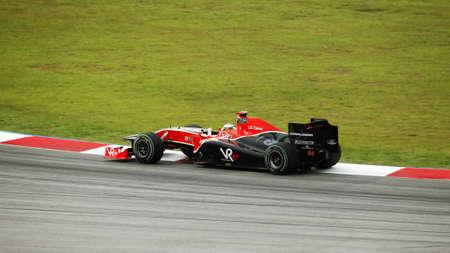 SEPANG, MALAYSIA - APRIL 4 : German Timo Glock of Team Virgin Racing at the Petronas Formula 1 Grand Prix April 4, 2010 in Sepang, Malaysia Stock Photo - 6896693