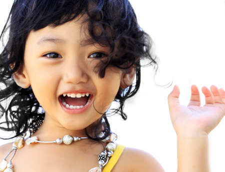Portrait of the beautiful small Asian girl. Indonesia. Java