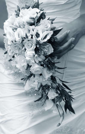 The bride holds a wedding bouquet Stock Photo - 7696021