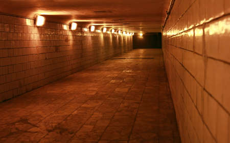 Night tunnels to move people in a urban city Stock Photo - 7696073