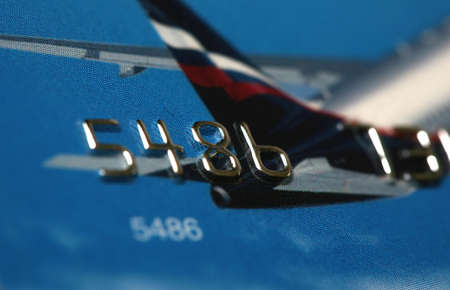 Credit card with the image of the plane Stock Photo - 7696068
