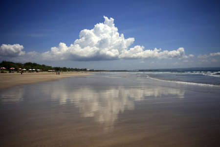 legian: Indian ocean. Legian Beach. Bali. Indonesia Stock Photo