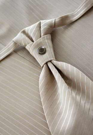 Beige tie of the groom photo