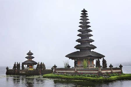Water temple at Bratan lake, ulun danu bedungul, Bali. Indonesia photo