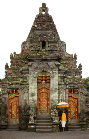 pura: Beautiful Bali temple entrance. Bali. Indonesia Stock Photo