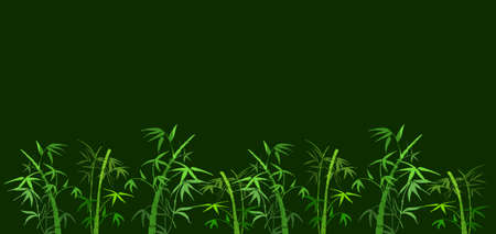 On green background the branches of bamboo Stock Photo - 7810126