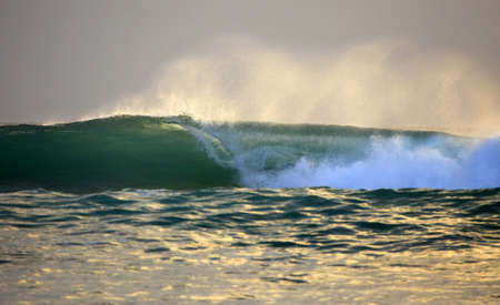 Big wave crashes on to the shore. Indian ocean photo