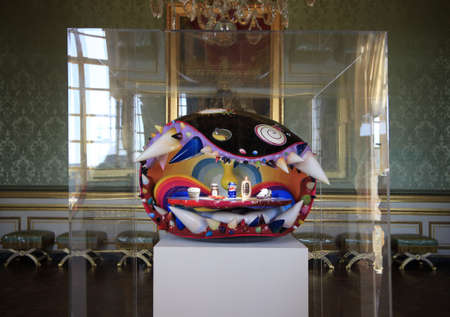 takashi: FRANCE, VERSAILLES, 22 SEPTEMBER 2010 : Retrospective show of works of modern Japanese artist Takashi Murakami in a residence of the French kings Versailles Palace 22 september 2010, France