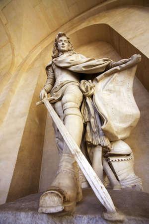 versailles: Statue in Versailles castle, France