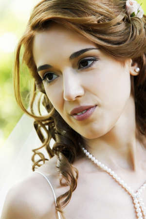 Portrait of the beautiful bride close up Stock Photo - 8020704