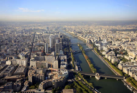 Aerial view at Paris architecture from the Eiffel tower. France photo