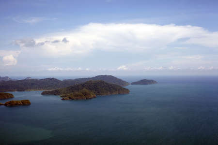 soft hail: Islands Langkawi from height of the birds flight Stock Photo