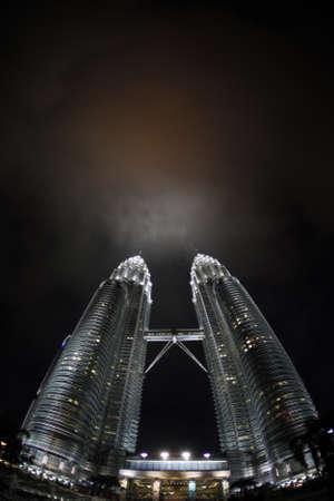 Kuala Lumpur - 01 APRIL: Petronas Twin Towers at night in Kuala Lumpur 01 april 2010, Malaysia