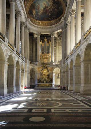 Königliche Kapelle der Palast von Versailles, Frankreich Standard-Bild - 9890456