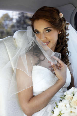 getting ready: The beautiful bride is closed by a veil