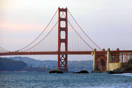 Golden Gate Bridge in San Francisco at sunset Stock Photo - 10860786
