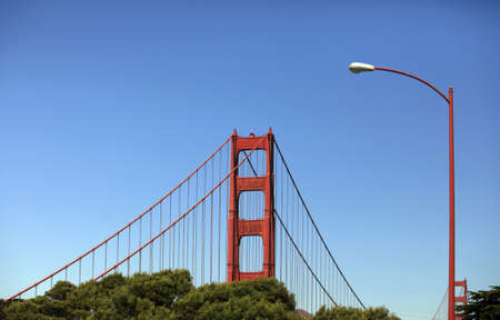Golden Gate Bridge in San Francisco on a background of the blue sky Stock Photo - 10908254