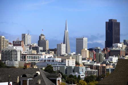View to San Francisco with Alamo Square photo