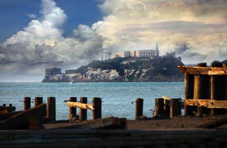 Alcatraz pénitencier fédéral dans la baie de San Fransisco, en Californie Banque d'images