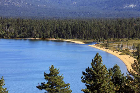 fannette: Beach at Lake Tahoe, California in summer