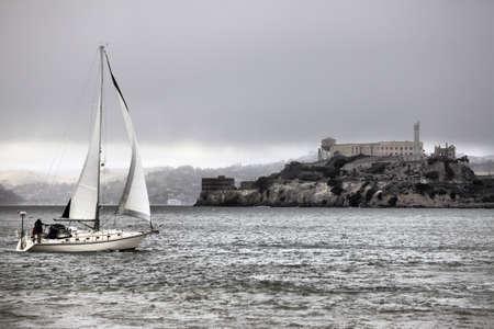 penitentiary: Alcatraz Federal Penitentiary in the San Fransisco Bay, California